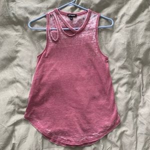 Express asymmetrical burnout tank